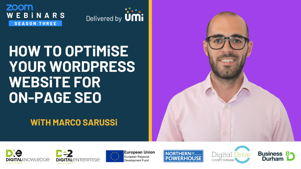 How To Optimise Your WordPress Website For On-Page SEO with Marco Sarussi