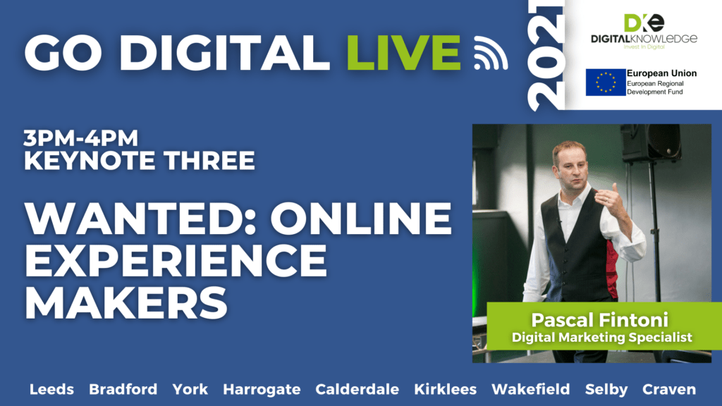 Wanted – Online Experience Makers with Pascal Fintoni